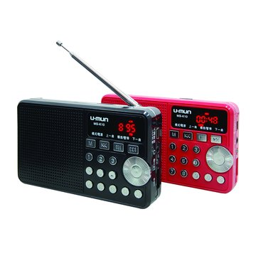 U-MUN 紅/MS-K10音樂多媒體收音機
