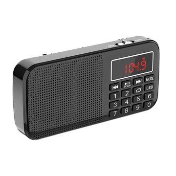 Dennys  黑/MS-K258 雙插卡 FM隨身聽