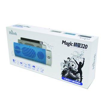 Hawk 鵰族 灰/P320魔幻精靈立體聲MP3隨身喇叭(福利品出清)