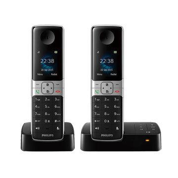 PHILIPS 飛利浦D6352B HQ Sound中文雙機數位電話(福利品出清)