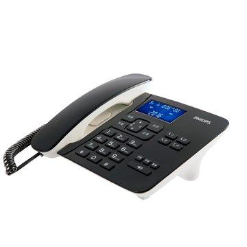 PHILIPS CORD49 超大螢幕有線電話 (黑)
