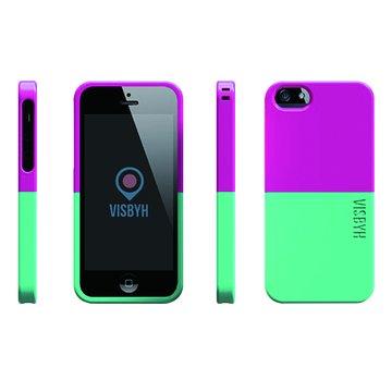 Visbyhi5case調色盤混色系列Pink+Green