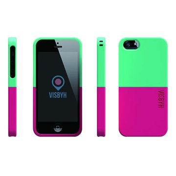 Visbyhi5case調色盤混色系列Green+Pink