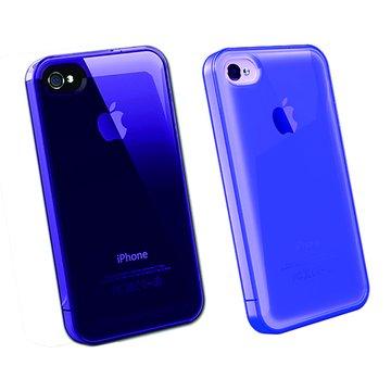 AproLink iPh4S 琉璃漸層外殼(透明紫)
