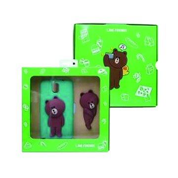SAMSUNG 三星LINE Brown熊大三星Note3背蓋組-綠