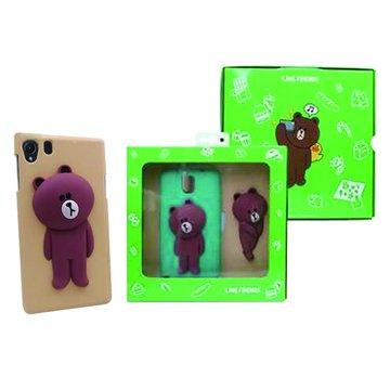 SONY 新力牌LINE Brown熊大Z1手機背蓋組-棕