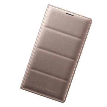 SAMSUNG 三星 三星Note 4原廠翻頁式皮套-金