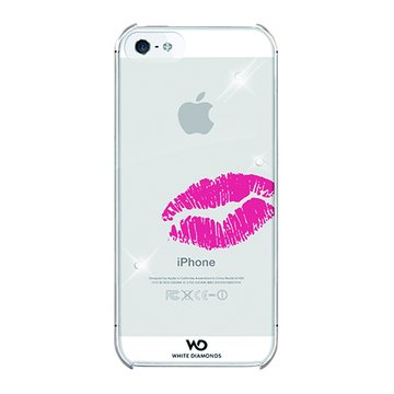 WDiPhone5施華洛世奇Kiss水鑽背蓋(透明)