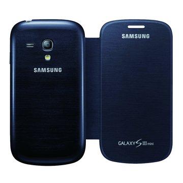 SAMSUNG 三星三星原廠專用側翻式皮套S3 mini專用-藍