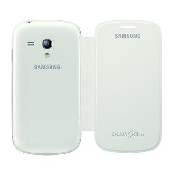 SAMSUNG 三星三星原廠側翻式皮套 S3 mini專用-白