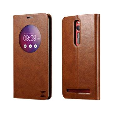 ICARER 艾克 XOOMZ Zenfone 2(非LASER)可立皮套5.5吋-棕
