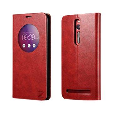 ICARER 艾克 XOOMZ Zenfone 2(非LASER)可立皮套5.5吋-紅