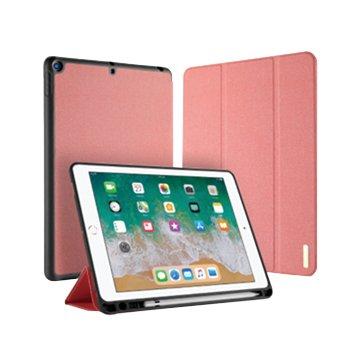 DUX DUCIS Apple iPad 2018筆槽防摔皮套-粉