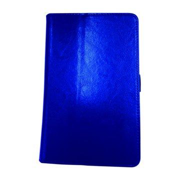 ME372瘋馬紋支架皮套/深藍