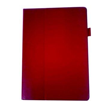 皮套ASUSTF600/502荔枝紋支架/紅