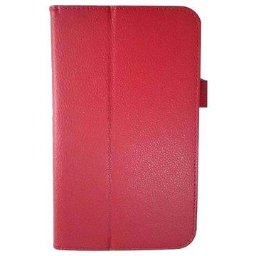 皮套: ASUS ME572C荔枝紋支架/紅