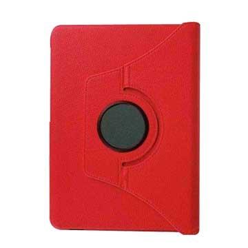 皮套:ipadpro9.7吋荔枝旋轉/紅