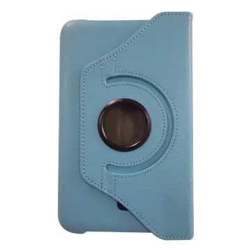 皮套:ipad pro 9.7吋荔枝旋轉/藍