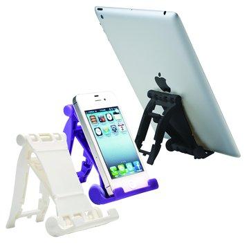 E-books N4 三段摺疊手機平板支架-白