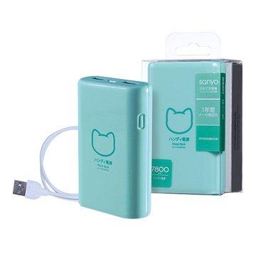 PROBOX 貓之物語 7800mAh行動電源-藍綠