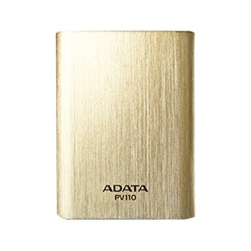 ADATA 威剛 10400mAh 髮絲紋行動電源-金色