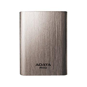 ADATA 威剛 10400mAh 髮絲紋行動電源-鐵灰色