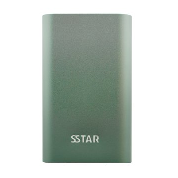 SSTAR QC3.0金屬質感10050mAh行動電源-墨綠