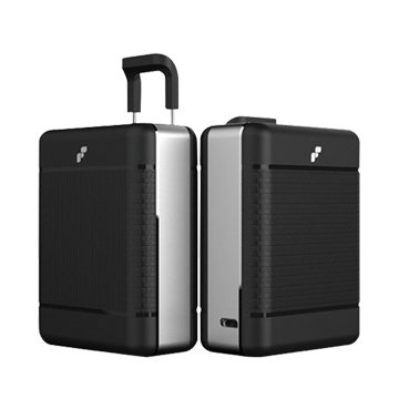 行李箱行動電源10250mAh-黑銀