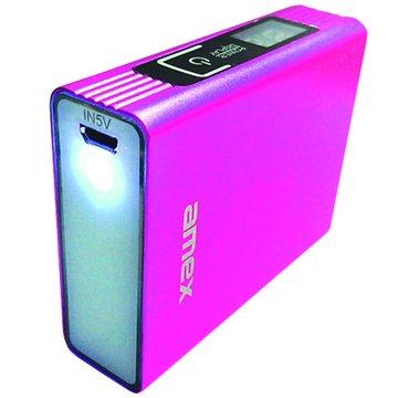 amex 頂閎 LED行動電源6000mAh(桃)