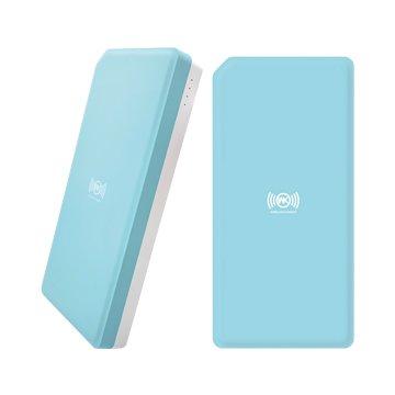 WK明治10000mAh無線充行動電源-藍