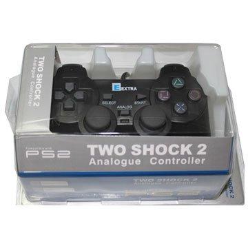 EXTRA 壹世代 PS2 副廠震動手把 -黑色