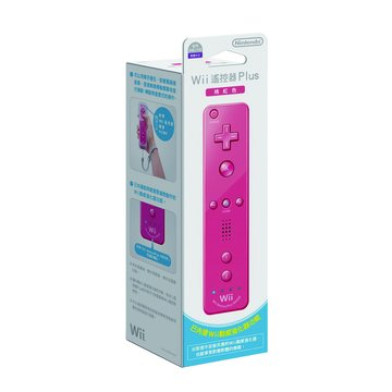 Nintendo 任天堂 WII Remote Plus 右手搖控器-粉紅色