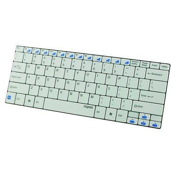 rapoo 雷柏 E6100(白)藍芽無線超薄鍵盤(福利品出清)