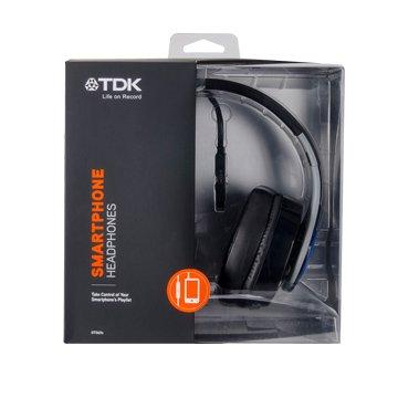 TDK 耳罩式可通話耳機ST560s黑藍