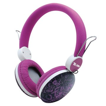 T.C.STAR 連鈺TCE8768PU(紫)頭戴式耳機麥克風