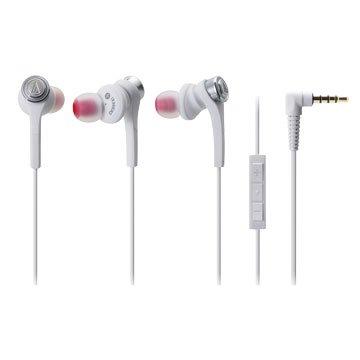 audio-technica 鐵三角 鐵三角iPhone專用耳機CKS55Xi白(福利品出清)