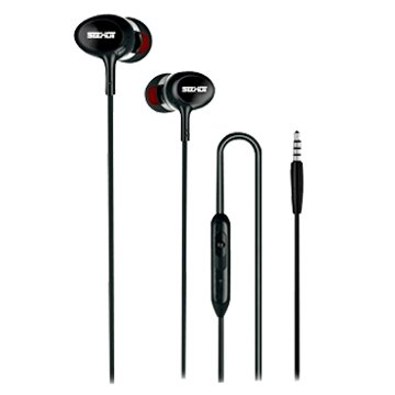 SEEHOT 嘻哈部落SeeHot運動款線控耳機S280黑