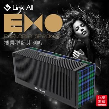 Link All EXO/藍格紋  攜帶型藍芽喇叭