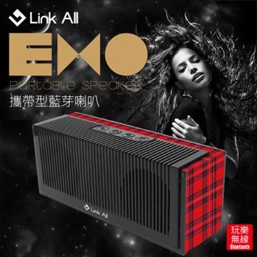 Link All EXO/紅格紋  攜帶型藍芽喇叭(福利品出清)