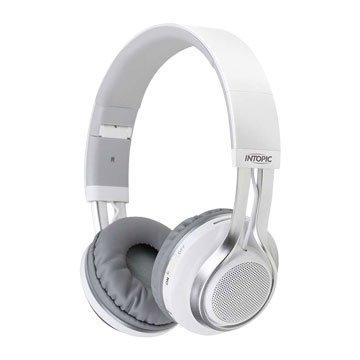 INTOPIC 廣鼎JAZZ-BT960 藍牙摺疊耳機麥克風-白(福利品出清)