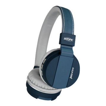 INTOPIC 廣鼎BT970 藍牙摺疊耳機麥克風-藍