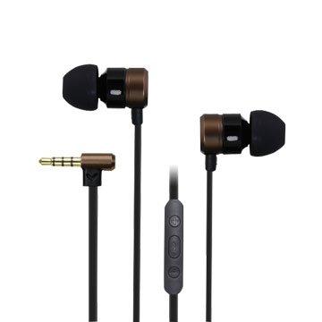 INTOPIC 廣鼎 JAZZ-I82-BR 入耳式鋁合金耳機麥克風-咖啡