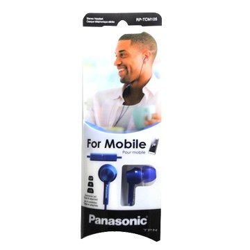 Panasonic 國際牌 TCM105-A耳道式耳機麥克風-藍(福利品出清)