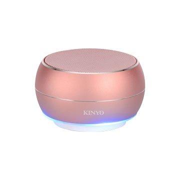 KINYO  BTS-698RG 無線藍牙讀卡喇叭-玫瑰金