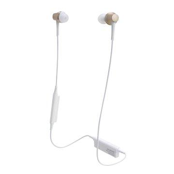 audio-technica 藍牙無線耳機CKR75BT香檳金 (新品包裝毀損)