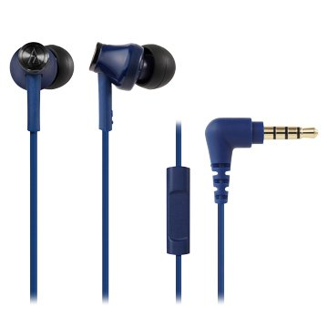 audio-technica 通話用耳機CK350iS BL藍色