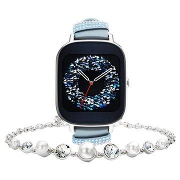 ASUS 華碩 ZenWatch 2 小錶晶鑽藍(真皮)-快充(福利品出清)