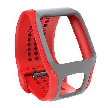 Tomtom 通騰 心率錶錶帶-紅灰(福利品出清)