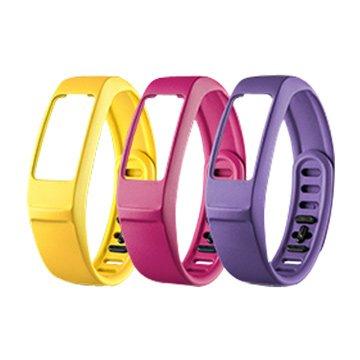 GARMIN vivofit2 替換腕帶(大)紫/粉紅/淡黃(福利品出清)