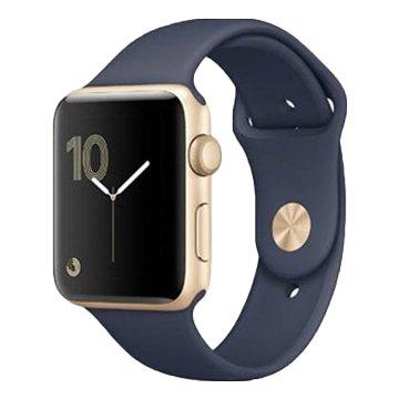 APPLE 蘋果 AppleWatch S2金色鋁配午夜藍錶帶